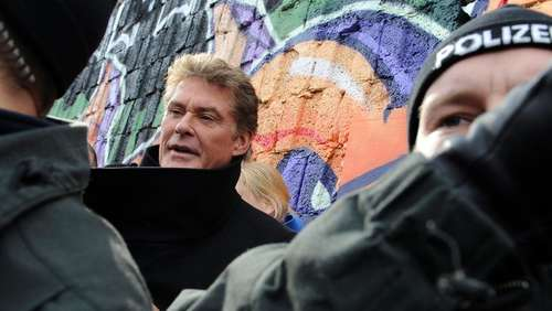 Hasselhoff für Konzert an East Side Gallery
