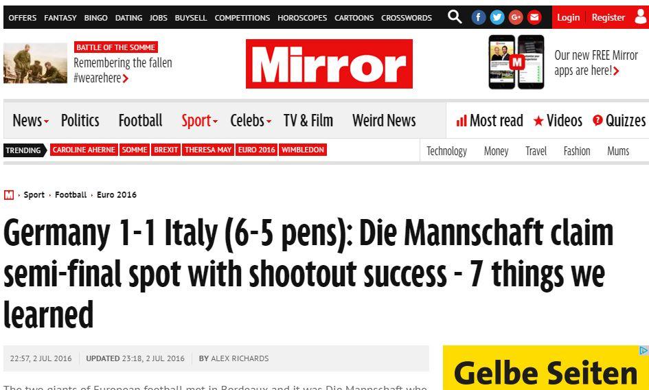 em viertelfinale deutschland italien