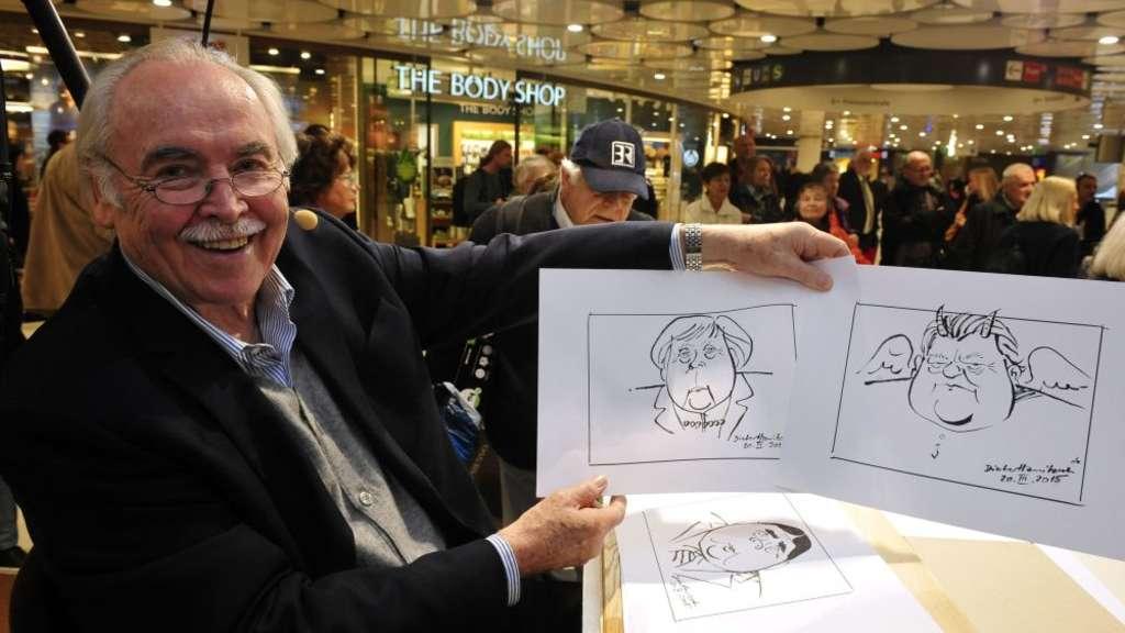 M nchens star karikaturist dieter hanitzsch 83 von a bis for Dieter hanitzsch