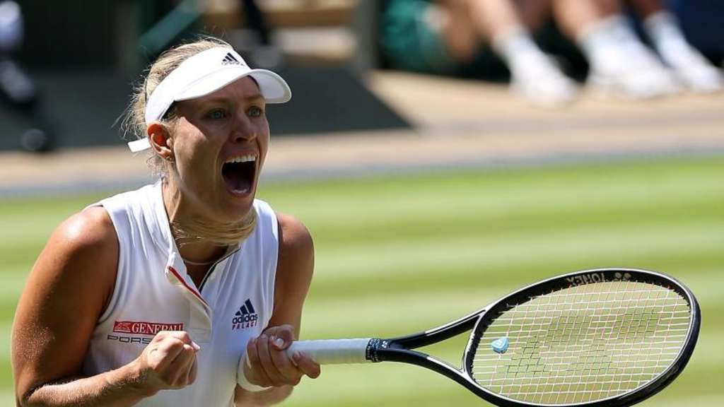 Angelique Kerber hat sich in Wimbledon ins Finale gespielt. Foto: Nigel French/PA Wire