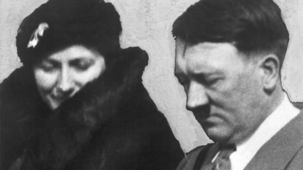 Adolf Hitler mit Winifred Wagner 1934.