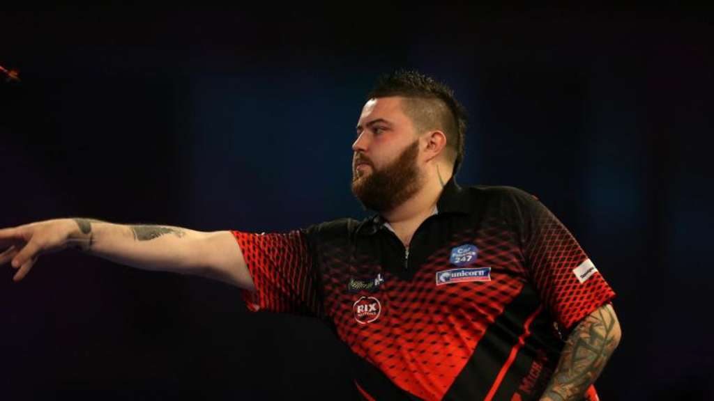 "Michael ""Bully Boy"" Smith steht im Finale der Darts-WM. Foto: Steven Paston/PA Wire"