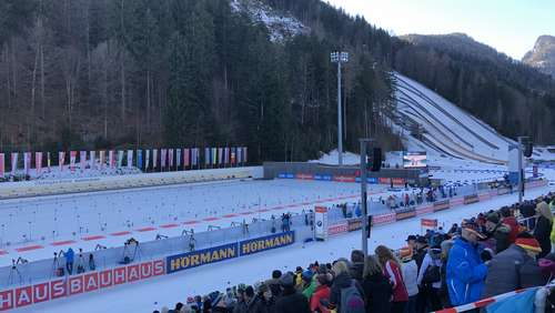 Biathlon-Weltcup in Ruhpolding am 16. Januar
